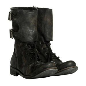 AllSaints Damisi Boots Ankle Edgy Moto Leather 39
